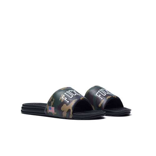 HUF FUCK IT SLIDE // WOODLAND CAMO