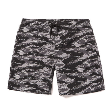 HUF FUCK IT TIGER CAMO EASY SHORT // BLACK