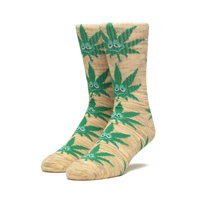 HUF GREEN BUDDY CREW SOCK // YELLOW