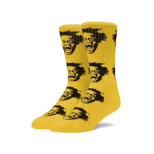HUF X HAROLD HUNTER FOUNDATION CLASSIC H FACES SOCK // GOLD