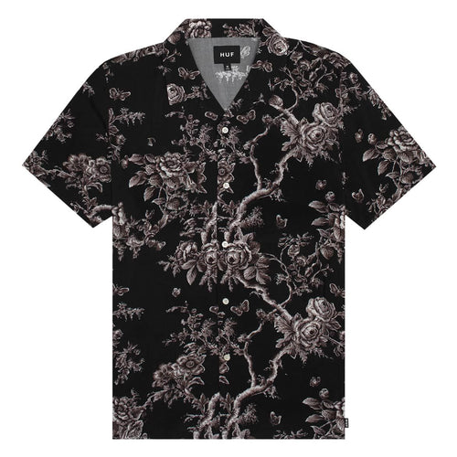 HUF HIGHLINE S/S WOVEN SHIRT // BLACK