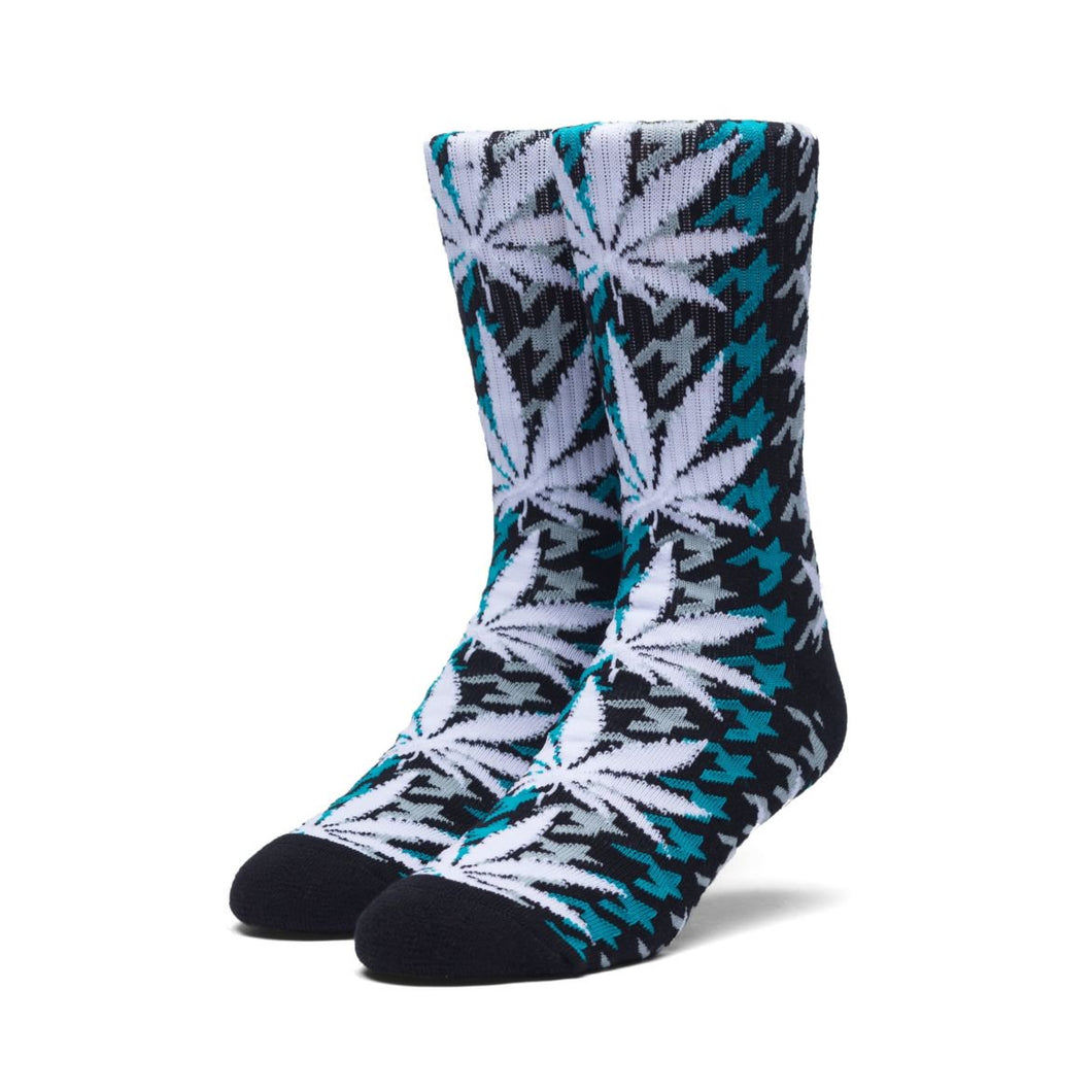 HUF HOUNDSTOOTH PLANTLIFE CREW SOCK // TROPICAL GREEN