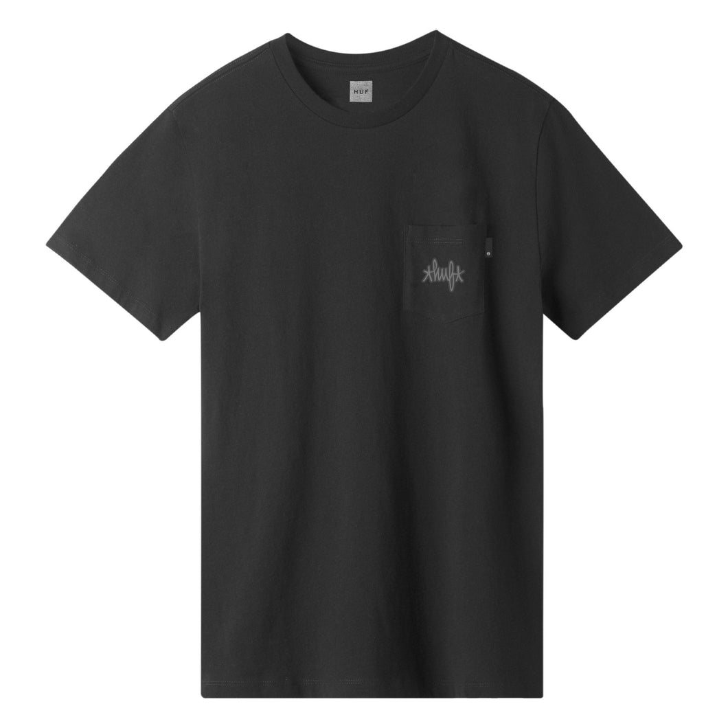 HUF HUF HAZE POCKET T-SHIRT // BLACK
