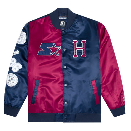 HUF X STARTER SATIN JACKET // NAVY