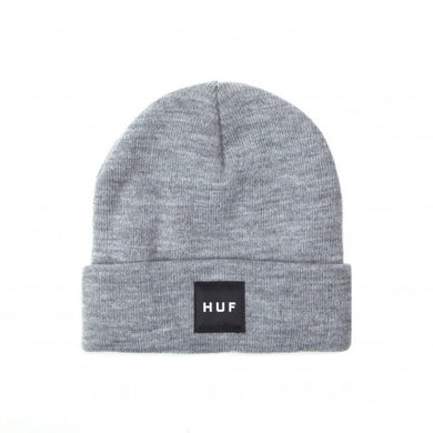 HUF ESSENTIALS BOX LOGO BEANIE // GREY HEATHER