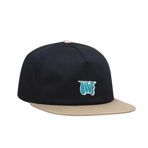HUF JONES NY STRAPBACK HAT // BLACK