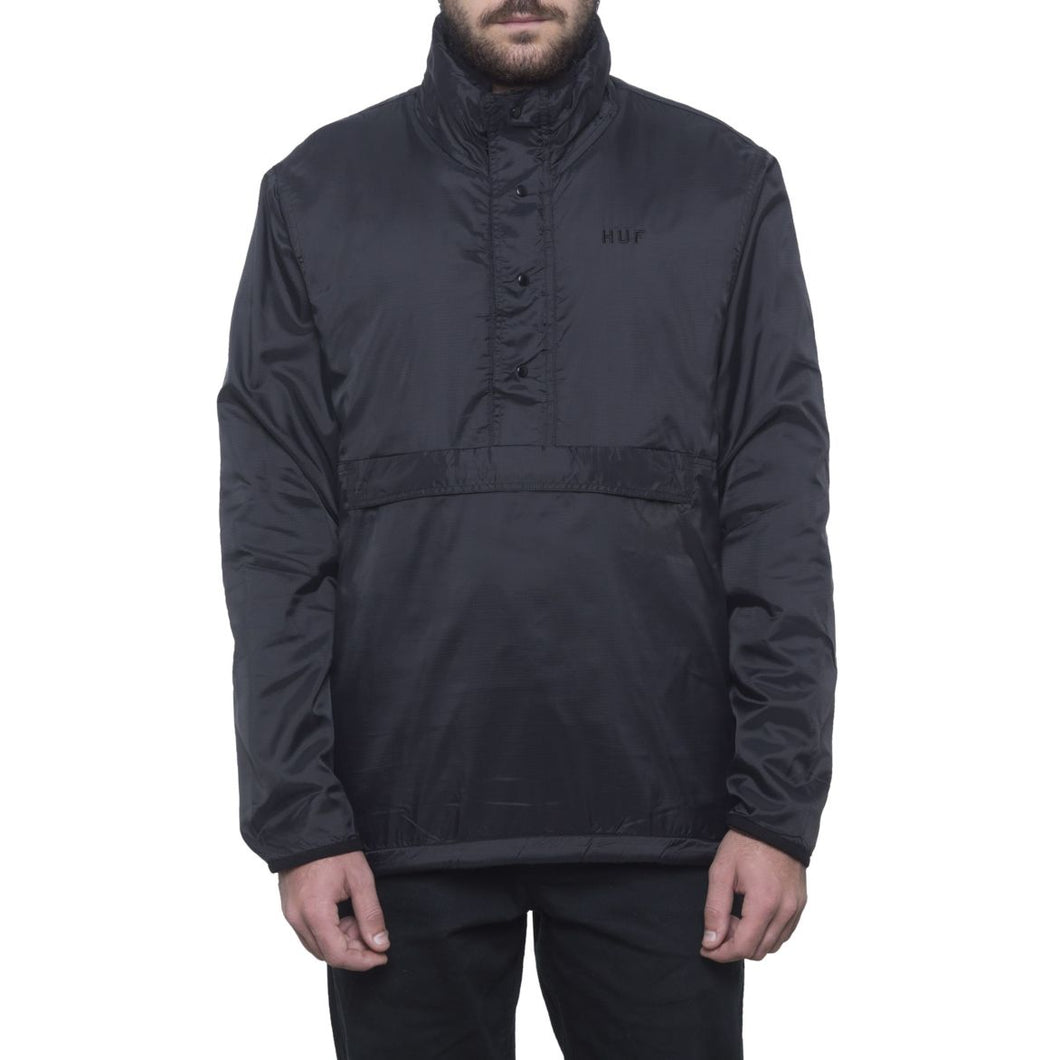 HUF KUMO REVERSIBLE 1/4 ZIP JACKET // BLACK/CAMO