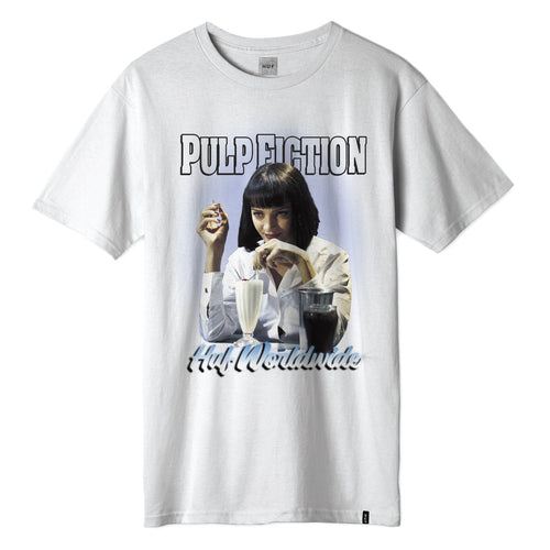 HUF X PULP FICTION MIA AIRBURSH T-SHIRT // WHITE