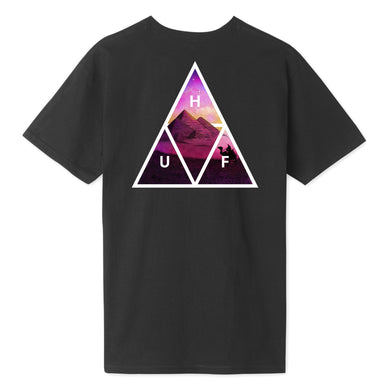 HUF MIRAGE TRIPLE TRIANGLE T-SHIRT // BLACK
