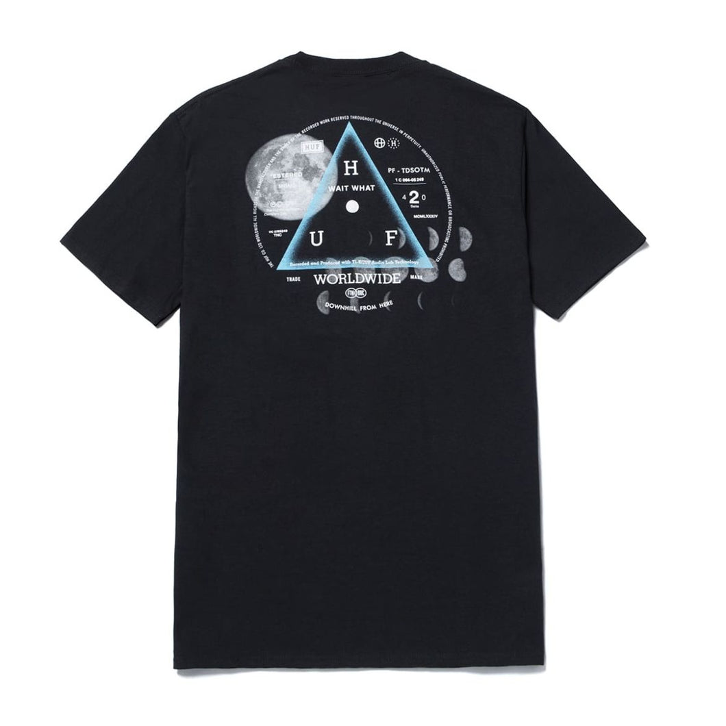 HUF MOONS S/S TEE // BLACK