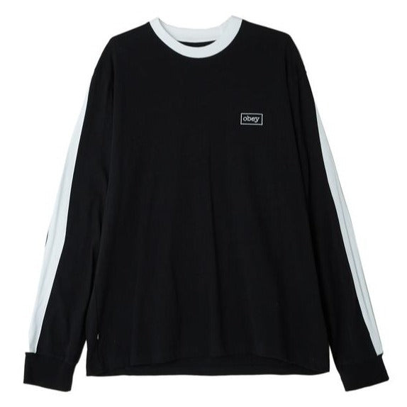 OBEY BORSTAL BOX LONG SLEEVE TEE // BLACK