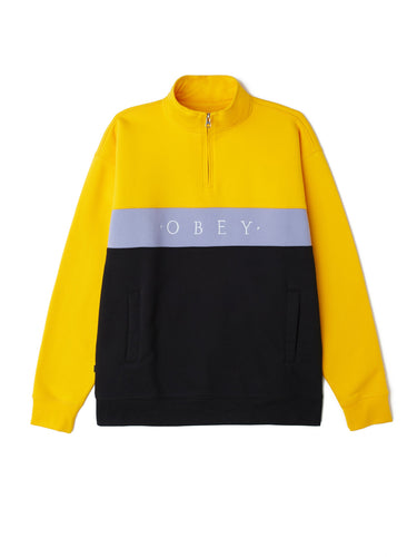 OBEY CHELSEA MOCK NECK ZIP  // ENERGY YELLOW
