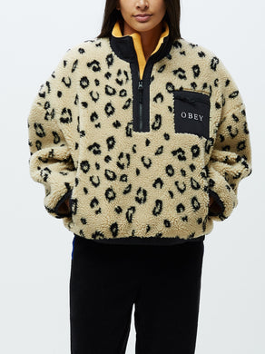 OBEY CHILLER ANORAK JACKET // LEOPARD