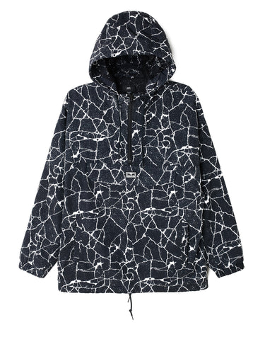 OBEY CONCRETE ANORACK JACKET // CRACKED BLACK