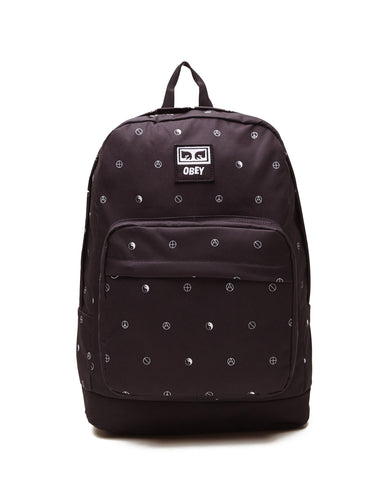 OBEY DROP OUT JUVEE BACKPACK // SYMBOL BLACK MULTI