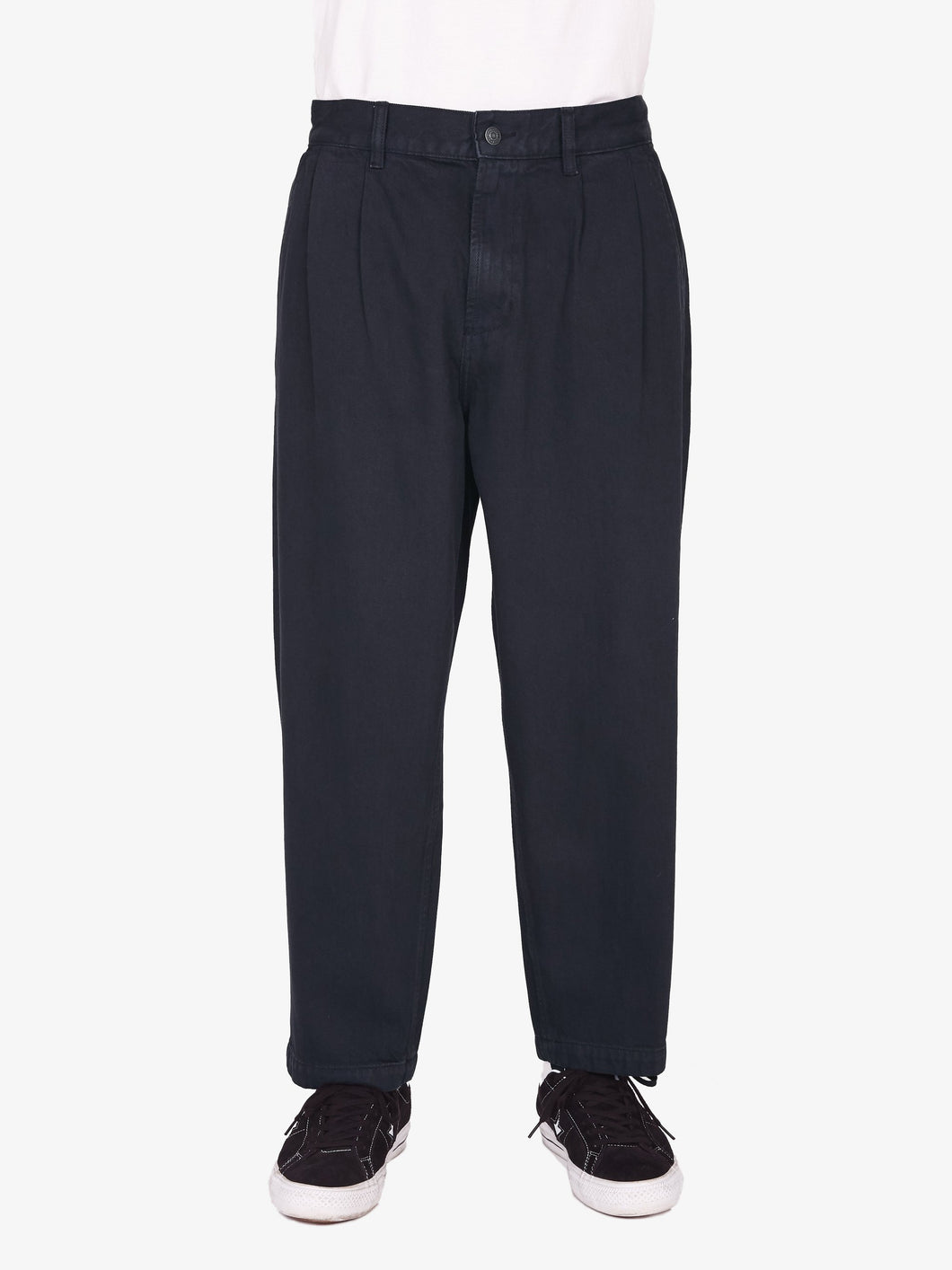 OBEY FUBAR PLEATED DENIM PANT // DUSTY BLACK