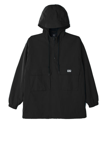 OBEY INLET ANORAK // BLACK