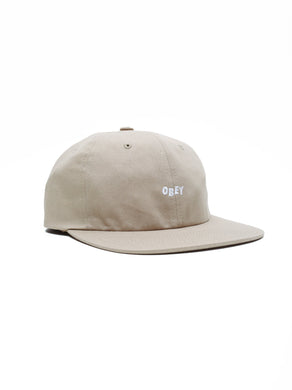 OBEY JUMBLED 6 PANEL HAT // KHAKI