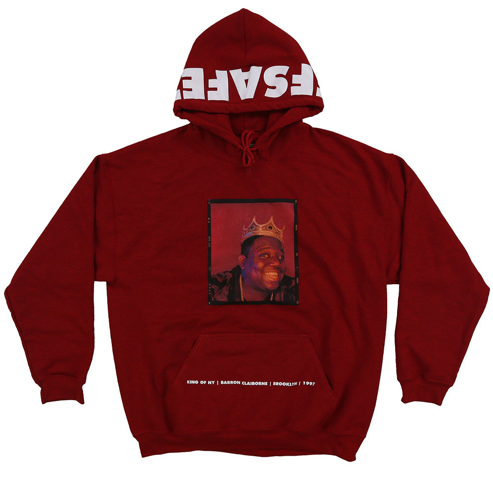 OFF SAFETY BIGGIE SMILES HOODIE // RED