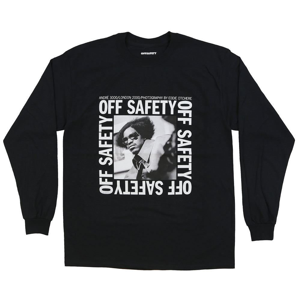 OFF SAFETY STACKS L/S TEE // BLACK