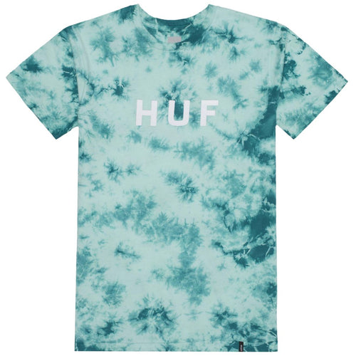 HUF OG LOGO CRYSTAL WASH TEE // BRIGHT AQUA