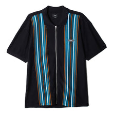 OBEY KELLY CLASSIC ZIP POLO S/S // BLACK MULTI
