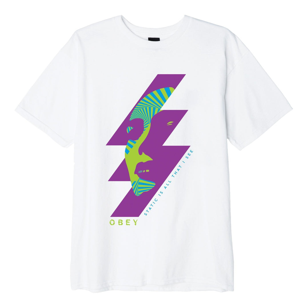 OBEY STATIC FUTURE TEE // WHITE