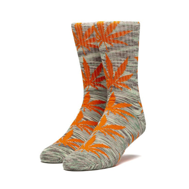 HUF PLANTLIFE MELANGE LEAVES SOCK // ELECTRIC ORANGE