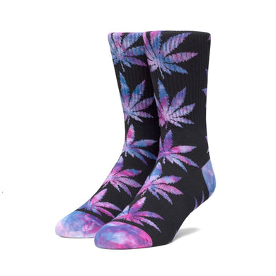 HUF PLANTLIFE TIEDYE LEAVES SOCK // BLACK