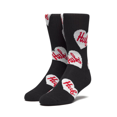 HUF PLASTIC HEARTS SOCK // BLACK