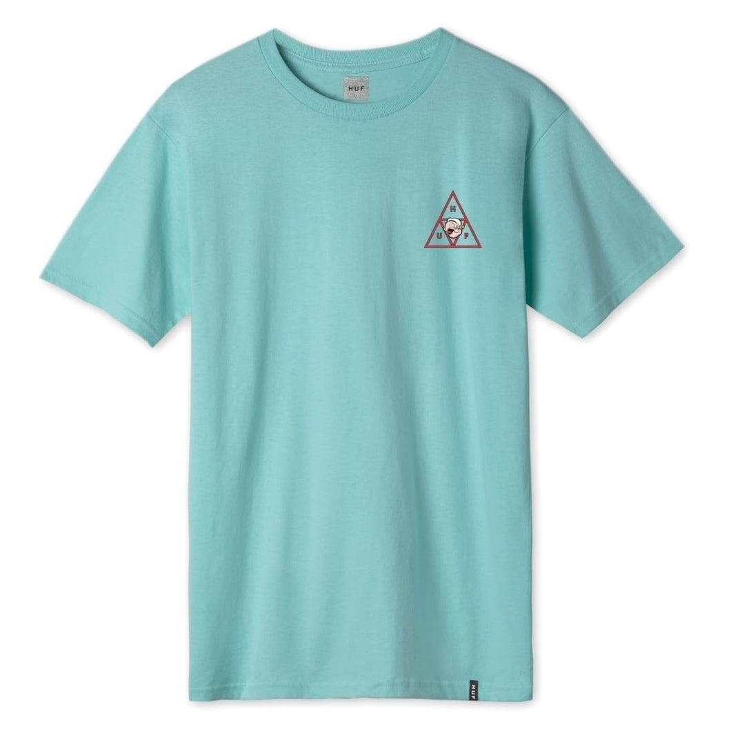HUF X POPEYE POPEYE SPINACH TRIPPLE TRIANGLE T-SHIRT // MINT