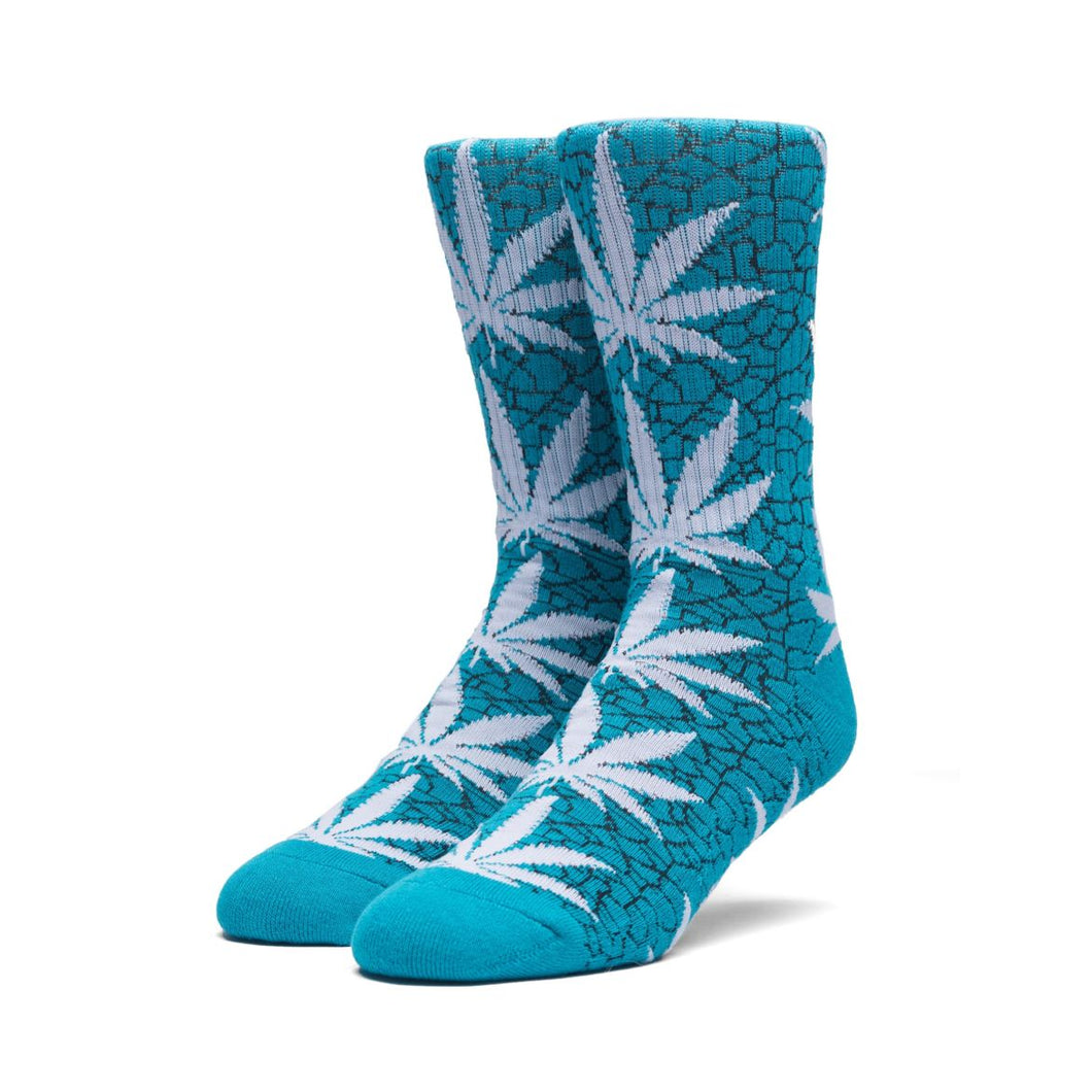 HUF QUAKE PLANTLIFE CREW SOCK // TROPICAL GREEN