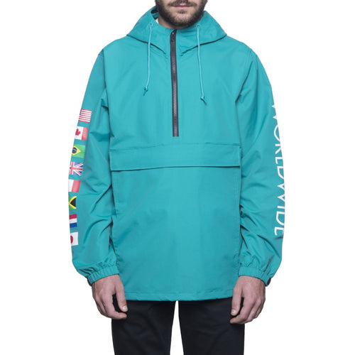 HUF REGIONAL TOUR ANORAK // TROPICAL GREEN