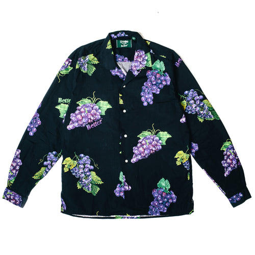 BetterTM BETTER GRAPE GITMAN BUTTON-UP // BLACK