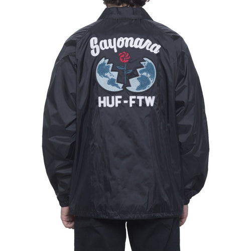 HUF SAYONARA COACHES JACKET // BLACK
