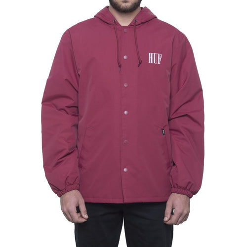 HUF SERIF QUILTED COACHES JACKET // TERRA COTTA