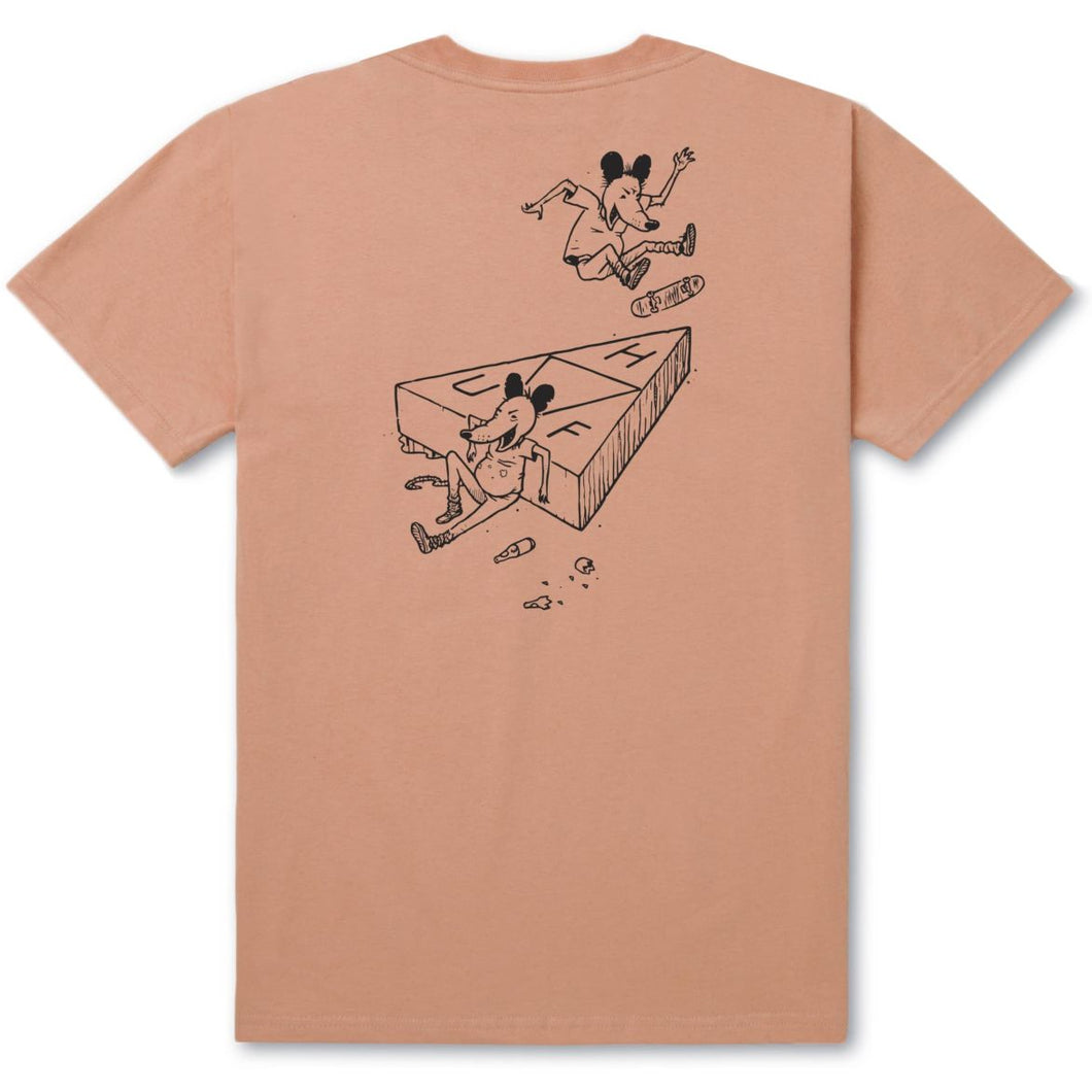 HUF SK8 RAT TRIPLE TRIANGLE TEE // PEACH