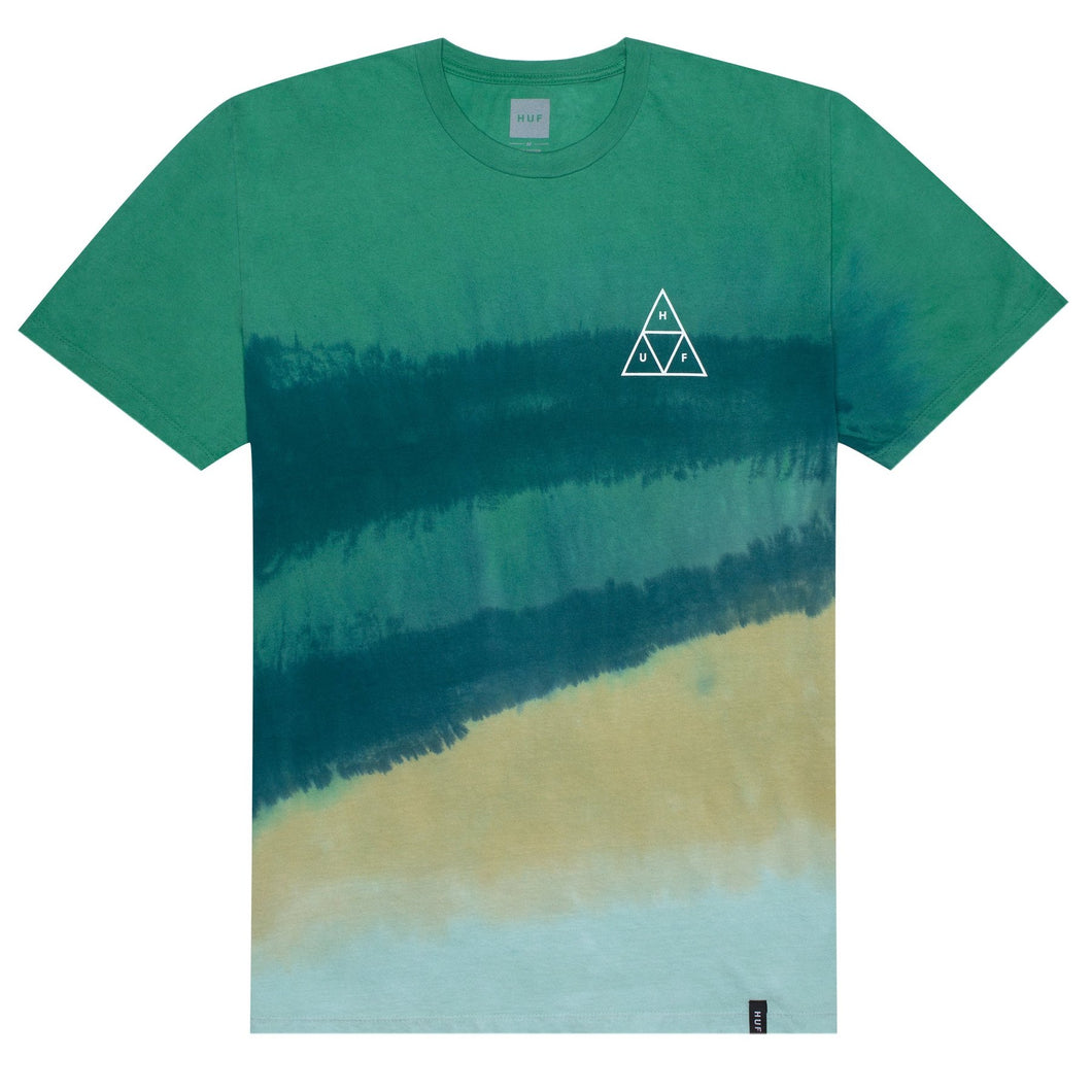HUF SKY WASH T-SHIRT // QUETZAL GREEN