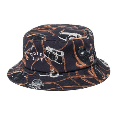 THE QUIET LIFE CAMERA STRAP BUCKET HAT // BLACK