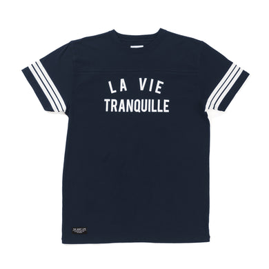 THE QUIET LIFE LA VIE TRANQUILLE VARSITY JERSEY // NAVY