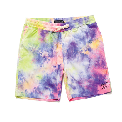 THE QUIET LIFE NEON TIE DYE BEACH SHORT // TIE DYE
