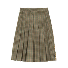 STÜSSY MIX PLAID PLEADED SKIRT // MULTI