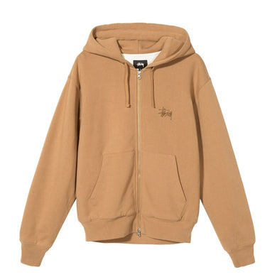 STÜSSY THERMAL ZIP HOODIE // BROWN