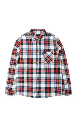 THE HUNDREDS GIBSON LS WOVEN // RED