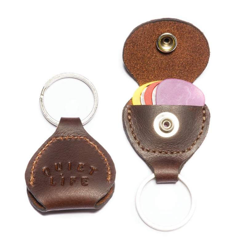 THE QUIET LIFE GUITAR PICK KEYCHAIN // BROWN