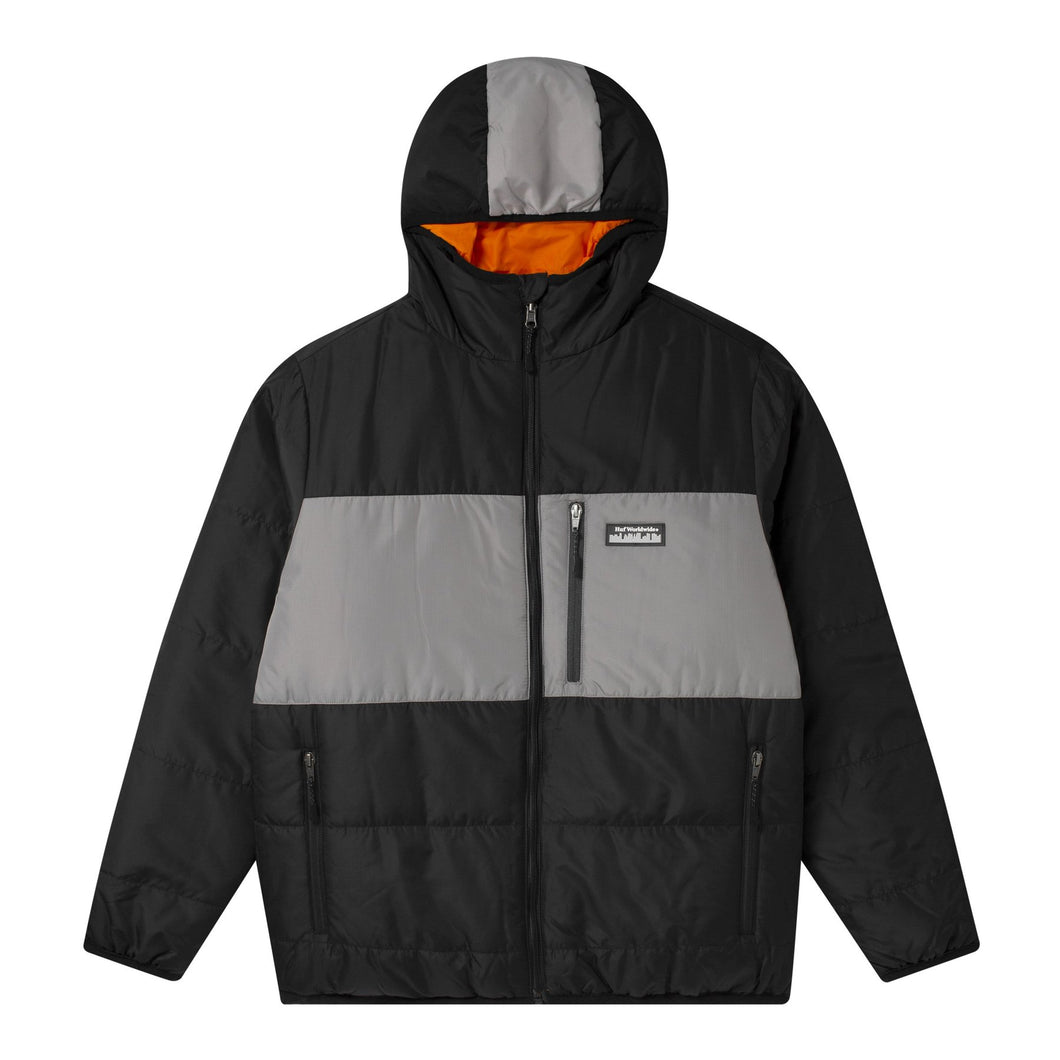 HUF TAOS REVERSIBLE PUFFER JACKET // BLACK