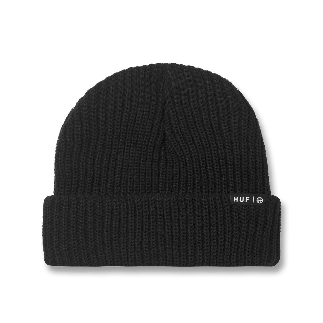 HUF ESSENTIALS  USUAL BEANIE // BLACK
