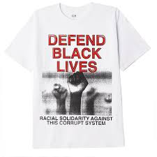 OBEY DEFEND BLACK LIVES 2 CLASSIC T-SHIRT // WHITE