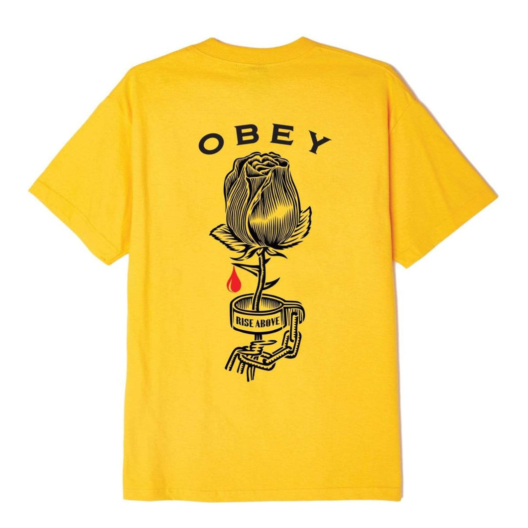 OBEY ROSE SHACKLE TEE // GOLD