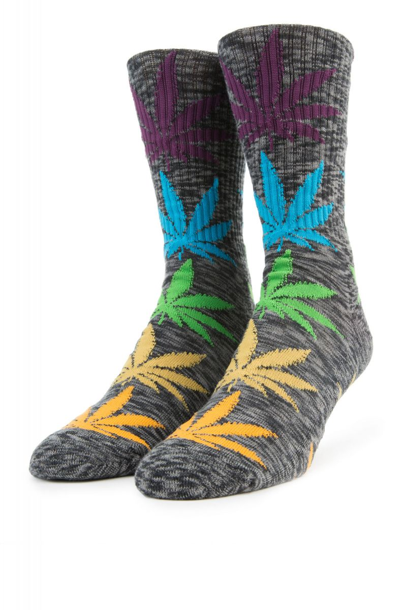 HUF MELANGE PLANTLIFE SOCKS // BLACK MULTI